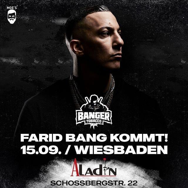 Farid Bang kommt zu uns in den Aladin Shisha Shop nach Wiesbaden am 15.09.2021 - Farid Bang im Aladin Shisha Shop