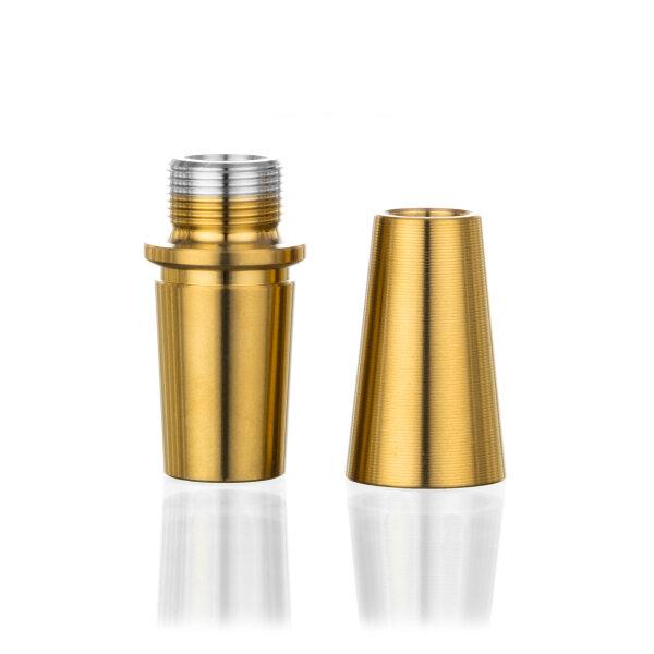Aladin Shisha Kopfadapter-Set mit 18/8 Schliff - Gold