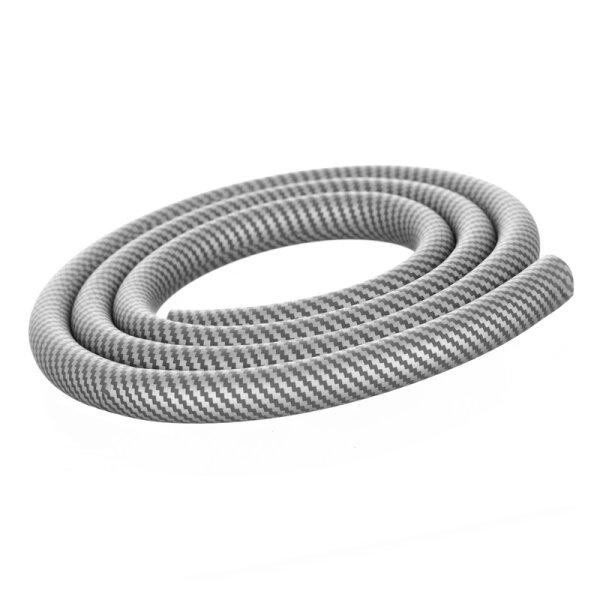 Shisha Silikonschlauch - Carbon Silber